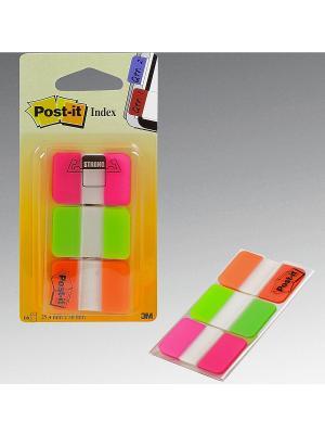 Закладки плотные для файлов POST-IT INDEX. Цвет: зеленый, малиновый, оранжевый