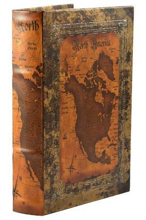 Шкатулка-фолиант 26x17x5 см Русские подарки. Цвет: оранжевый, коричневый