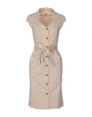 Платье до колена ALVIERO MARTINI 1A CLASSE. Цвет: бежевый