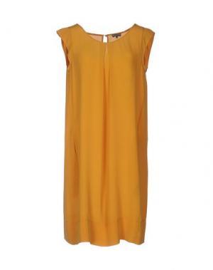 Короткое платье MALÌPARMI. Цвет: охра