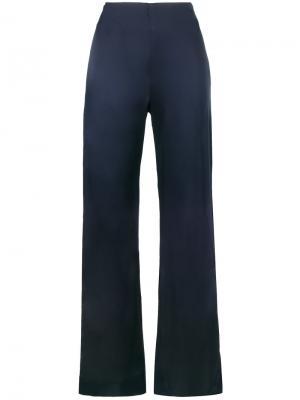 Высокие широкие брюки Jonathan Simkhai. Цвет: синий