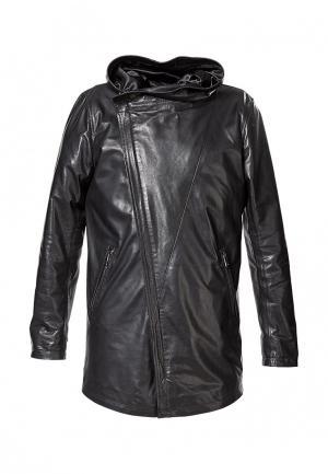 Куртка кожаная Grafinia. Цвет: черный