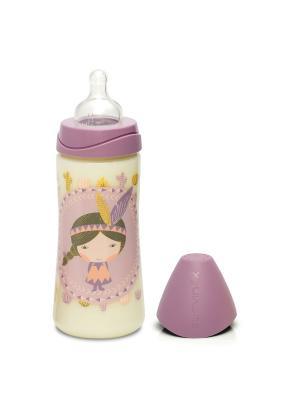 Бутылочка для кормления Suavinex. Цвет: фиолетовый