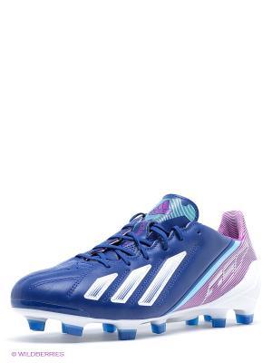 Бутсы F50 Adidas. Цвет: синий, белый