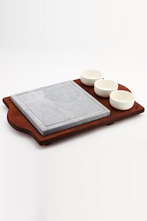 Камень для приготовления пищи Bisetti. Цвет: серый