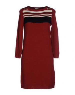 Короткое платье INTROPIA. Цвет: кирпично-красный
