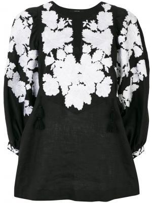 Декорированная блузка Vita Kin. Цвет: чёрный