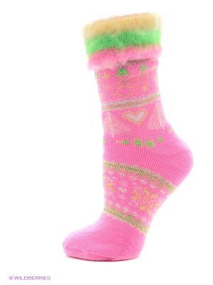 Носки для дома HOSIERY. Цвет: розовый