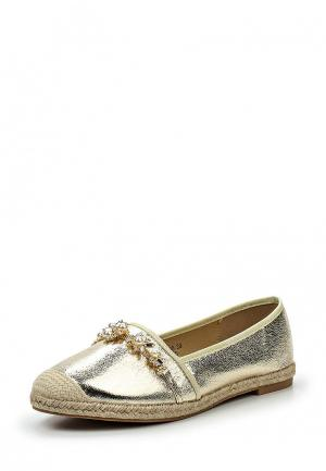 Эспадрильи Sweet Shoes. Цвет: золотой