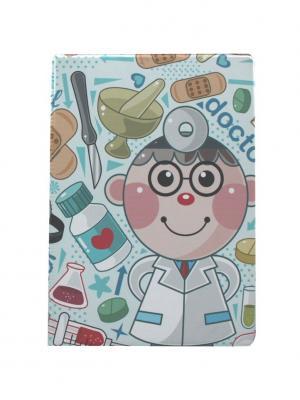 Папка для медицинского полиса Doctor Tina Bolotina. Цвет: голубой, светло-голубой, светло-серый