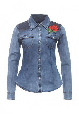 Рубашка джинсовая Stella Morgan. Цвет: синий