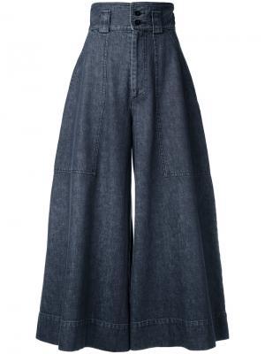 Широкие брюки с завышенной талией Mikio Sakabe. Цвет: чёрный