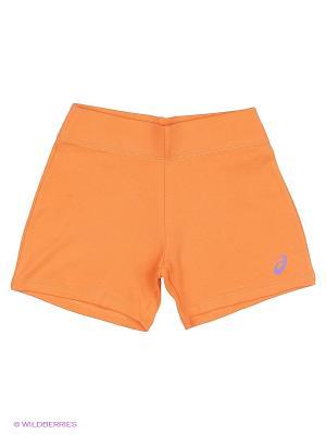 Шорты GIRLS KNIT SHORT ASICS. Цвет: оранжевый