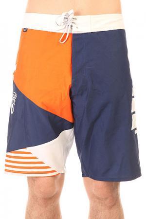 Шорты пляжные  Vector 22 Navy Picture Organic. Цвет: синий,белый,оранжевый