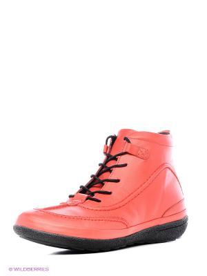 Ботинки MILANA. Цвет: красный