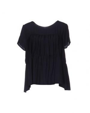 Блузка TROU AUX BICHES. Цвет: темно-синий