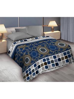 Комплект постельного белья 2,0 бязь Bruno Wenge. Цвет: серый, синий