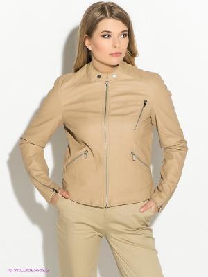 Куртка Moodo. Цвет: бежевый