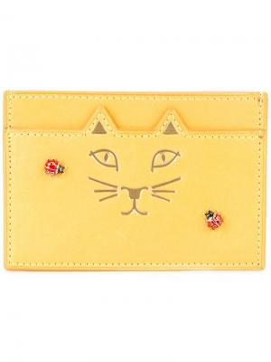 Кошелек для карт Feline Charlotte Olympia. Цвет: жёлтый и оранжевый