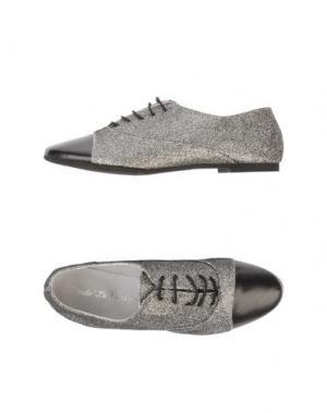 Обувь на шнурках DODO' LE PARISIENNE. Цвет: серебристый