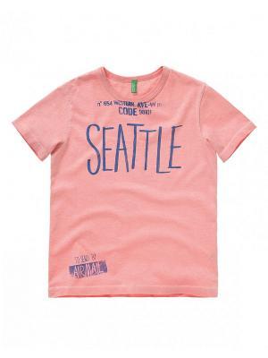 Футболка United Colors of Benetton. Цвет: сиреневый, бледно-розовый, бронзовый