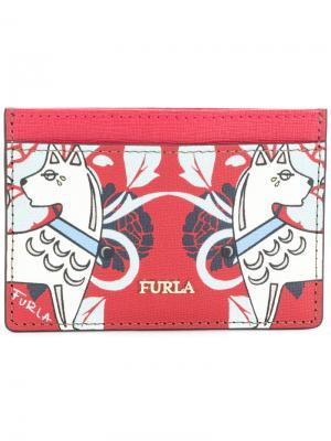 Babylon card holder Furla. Цвет: красный