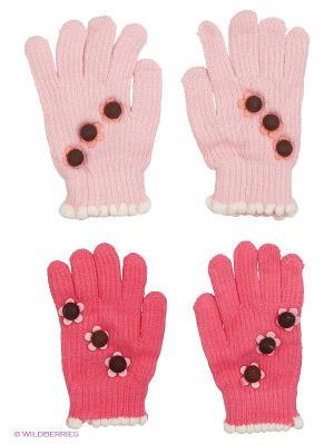 Перчатки FOMAS. Цвет: коралловый, бледно-розовый