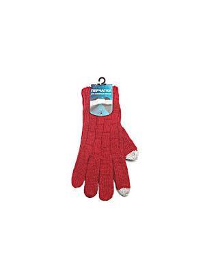 Айперчатки унисекс красные, вязанные (65%акрил,30%шерсть,5%спандекс) FT153-red Экспедиция. Цвет: красный
