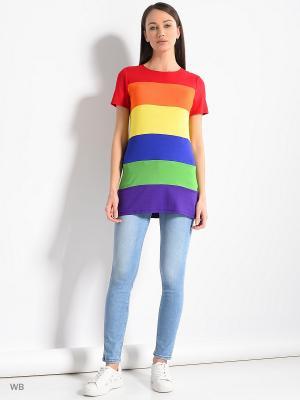 Кофточка Colambetta. Цвет: красный, оранжевый, желтый, синий, зеленый, голубой, фиолетовый
