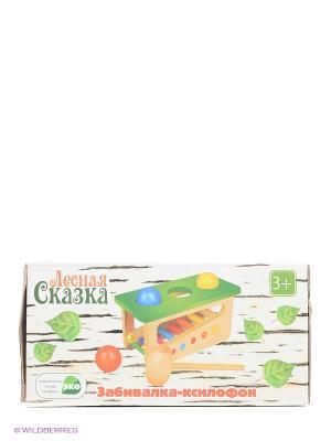 Деревянная игрушка Забивалка-ксилофон Фабрика Фантазий. Цвет: зеленый