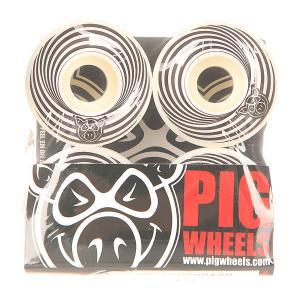 Колеса для скейтборда  Vertigo Black 100A 52 mm Pig. Цвет: белый,черный