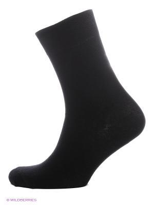Носки классические, 3 пары HOSIERY. Цвет: черный