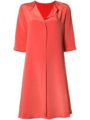 Платье с разрезом на вырезе Peter Cohen. Цвет: жёлтый и оранжевый