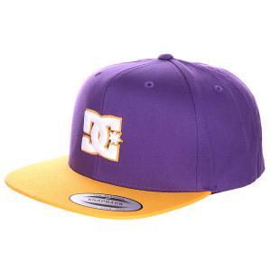 Бейсболка с прямым козырьком DC Snappy Purple Shoes. Цвет: фиолетовый,оранжевый