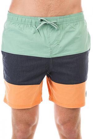 Шорты пляжные DC Henning 16.5 Malachite Green Shoes. Цвет: ,синий,зеленый,оранжевый