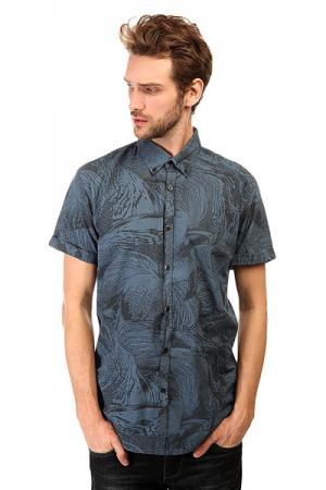 Рубашка  Dark Trip Shirt Wvtp Denim Quiksilver. Цвет: синий,черный
