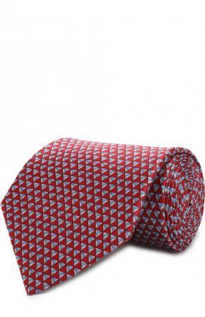 Комплект из шелкового галстука и платка Lanvin. Цвет: красный