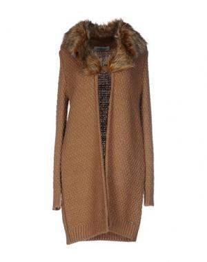 Легкое пальто CRISTINAEFFE. Цвет: верблюжий