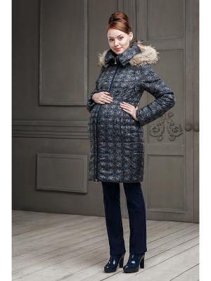 Пальто DIDILIYA. Цвет: темно-синий