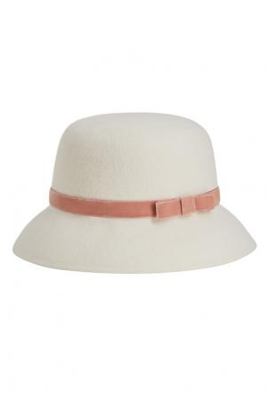 Белая фетровая шляпа Julie Age of Innocence. Цвет: белый
