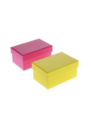 Коробка подарочная - 2 шт. Migura. Цвет: розовый, желтый