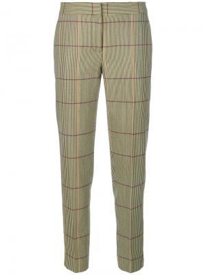 Укороченные брюки в клетку Paul Smith. Цвет: телесный