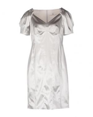 Короткое платье X'S MILANO. Цвет: светло-серый
