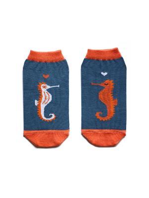 Носки укороченные Big Bang Socks. Цвет: синий