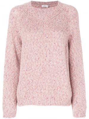 Классический трикотажный свитер Closed. Цвет: розовый и фиолетовый