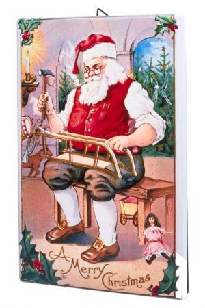 Панно на стену Санта DUE ESSE CHRISTMAS. Цвет: красный, желтый