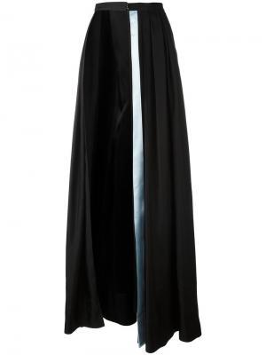 Асимметричная длинная юбка Caitlin Price. Цвет: чёрный