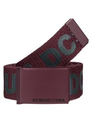 Ремень DC Shoes. Цвет: бордовый