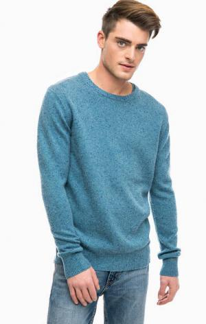 Синий свитер с круглым вырезом Scotch&Soda. Цвет: синий