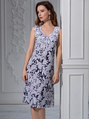 Ночные сорочки MIA-MELLA. Цвет: темно-синий, белый